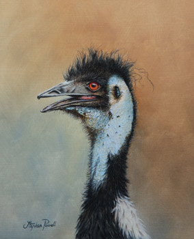 Emu oil painting by Stephen Powell