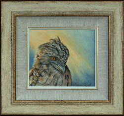 Tawny Frogmouth -  Oil panting by Stephen Powell