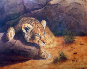 Lion Cub by Alison Clark