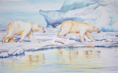 Polar Bears by Denise Illing Wildlife Artist Photographer